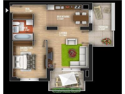 Apartament 2 camere Rose Garden